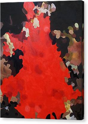 Canvas Print featuring the painting Flamenco by Cherise Foster