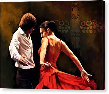 Flamenco Dancer 012 Canvas Print by Catf