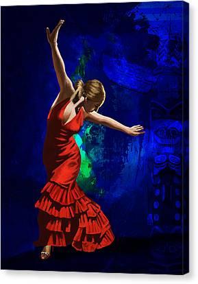 Flamenco Dancer 014 Canvas Print by Catf