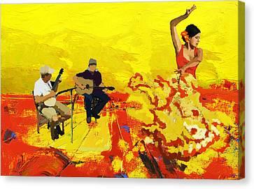 Flamenco Dancer 018 Canvas Print