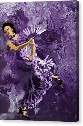 Flamenco Dancer 023 Canvas Print by Catf