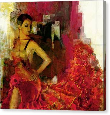 Flamenco Dancer 024 Canvas Print by Catf