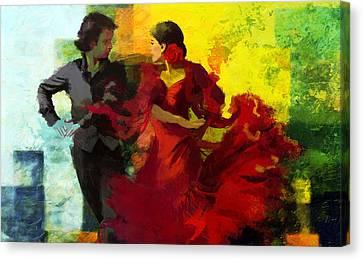 Flamenco Dancer 025 Canvas Print by Catf