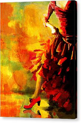 Flamenco Dancer 026 Canvas Print by Catf