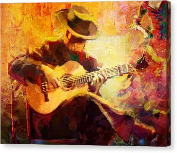 Flamenco Dancer 028 Canvas Print by Catf
