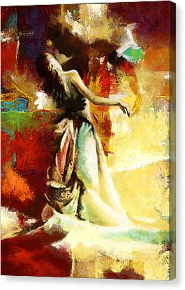 Flamenco Dancer 032 Canvas Print by Catf