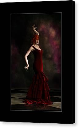 Flamenco Dancer Frame Canvas Print by Shanina Conway