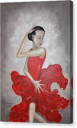 Flamenco Dancer I Canvas Print by Mariya Kazarinova