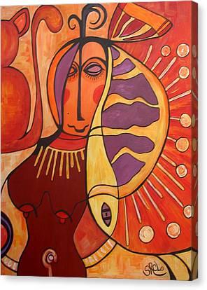 Flamenco Fish Canvas Print by Silvia Regueira