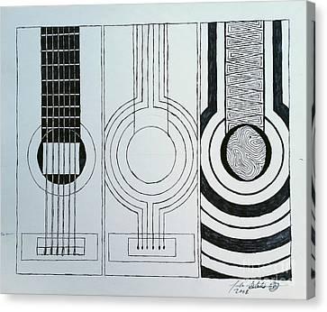 Flamenco Guitar Canvas Print