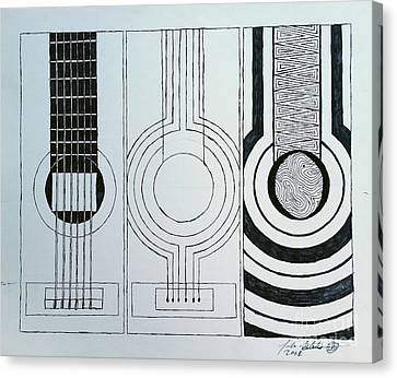 Flamenco Guitar Canvas Print by Luke Galutia