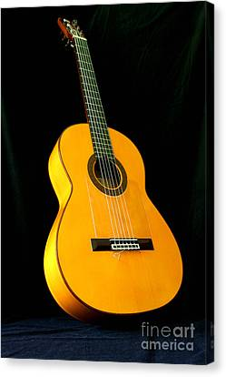Flamenco Guitar Canvas Print by Russell Christie
