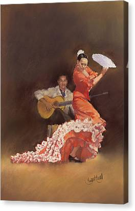 Flamenco Canvas Print by Margaret Merry