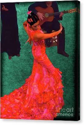 Flamenco Canvas Print by Nigel Fletcher-Jones