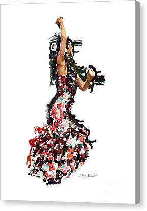 Flamenco Series #12 Canvas Print by Mary Machare