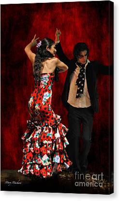 Flamenco Series #9 Canvas Print by Mary Machare