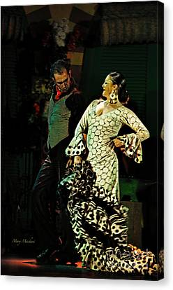 Flamenco Series No 11 Canvas Print by Mary Machare