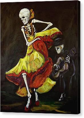 Dia Canvas Print - Flamenco Vi by Sharon Sieben