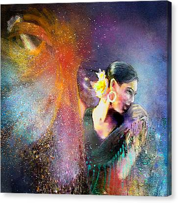 Flamencoscape 04 Canvas Print by Miki De Goodaboom