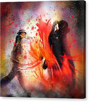 Flamencoscape 07 Canvas Print by Miki De Goodaboom