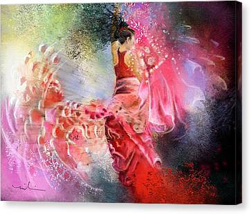 Flamencoscape 13 Canvas Print by Miki De Goodaboom