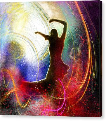 Flamencoscape 16 Canvas Print by Miki De Goodaboom