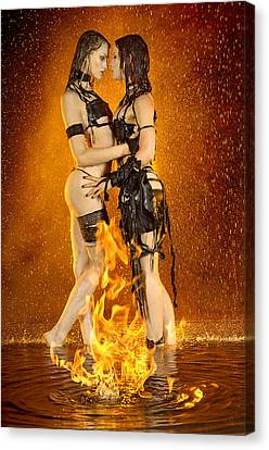 Flames Of Attraction Canvas Print by Adam Chilson