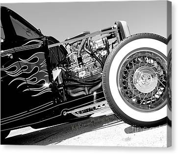 Automotive - Flames Of Yesterday Canvas Print
