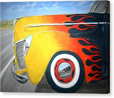 Canvas Print featuring the painting Flames by Stacy C Bottoms