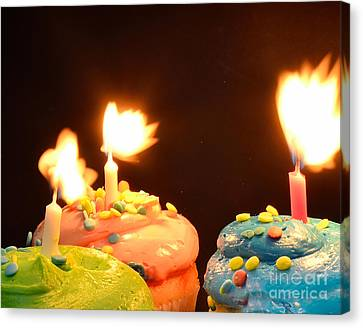 Flaming Cake Canvas Print by Timothy OLeary
