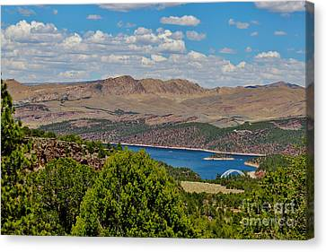 Canvas Print featuring the photograph Flaming Gorge by Janice Rae Pariza