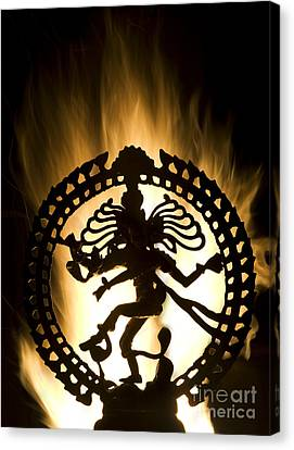 Flaming Natarja Canvas Print