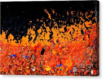 Bright Canvas Print - Flaming Paint Splatters by Amy Cicconi