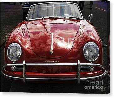 Canvas Print featuring the photograph Flaming Red Porsche by Victoria Harrington