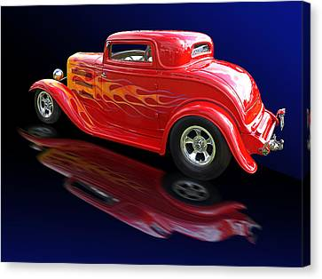 Flaming Roadster Canvas Print by Gill Billington