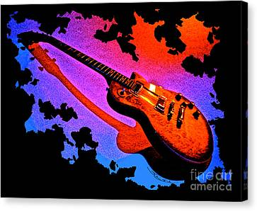 Flaming Rock Canvas Print by Gem S Visionary