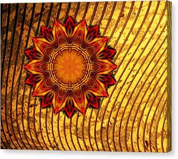 Brown Tones Canvas Print - Flaming Star by Linda Phelps