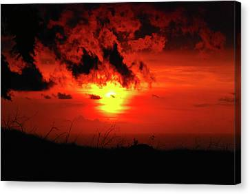 Flaming Sunset Canvas Print