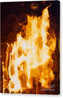 Flaming Waters Canvas Print by Omaste Witkowski