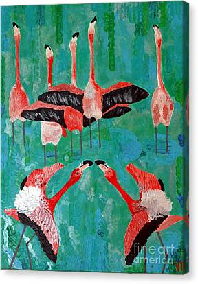Flamingo 3 Canvas Print by Vicky Tarcau