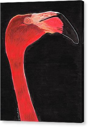 Flamingo Art By Sharon Cummings Canvas Print