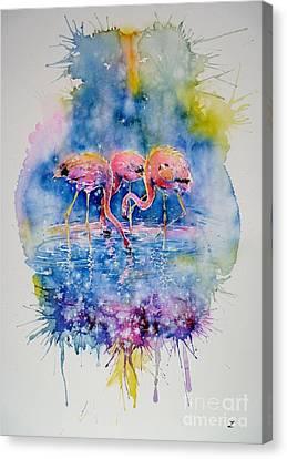 Flamingo Glare Canvas Print by Zaira Dzhaubaeva