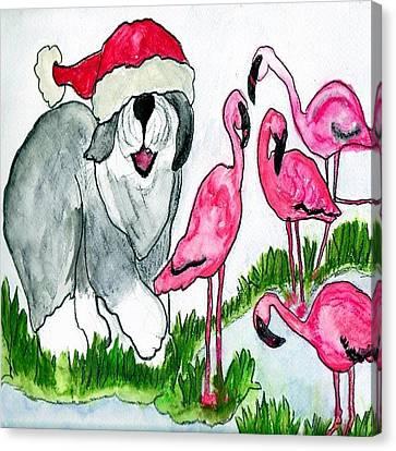 Flamingo Herder Canvas Print
