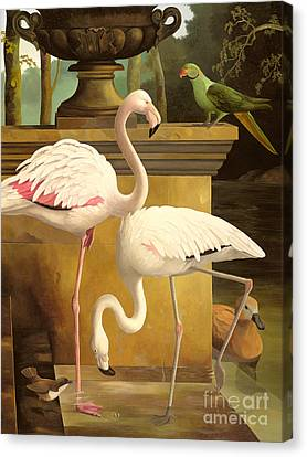 Flamingos Canvas Print by Lizzie Riches