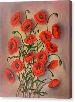 Flander's Poppies Canvas Print by Randy Burns