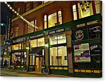 Flannerys Pub Canvas Print by Frozen in Time Fine Art Photography