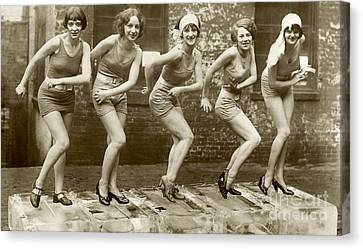 1933 Canvas Print - Flapper Girls by Jon Neidert