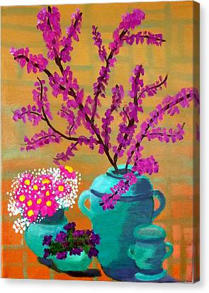 Canvas Print featuring the painting Flare For Simplicity by Margaret Harmon