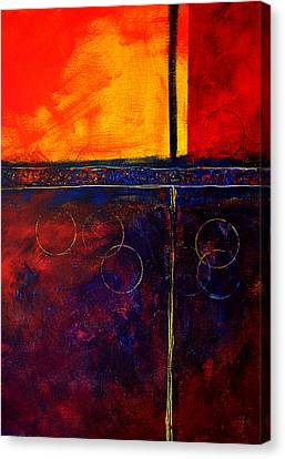 Rectangle Canvas Print - Flash Abstract Painting by Nancy Merkle