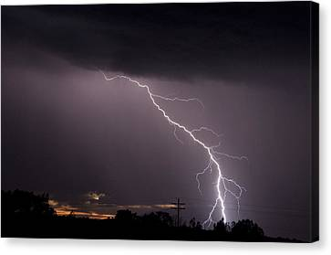 Flash In The Night Three Canvas Print by Eric Rundle
